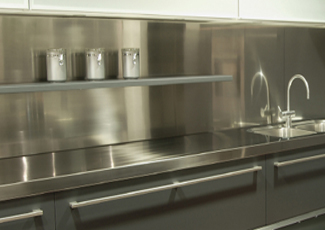 University City, MO Stainless Steel Countertop