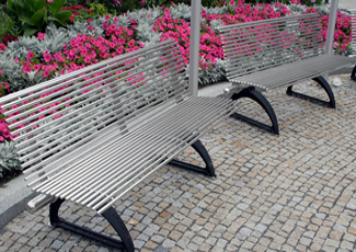 University City, MO Stainless Steel Benches